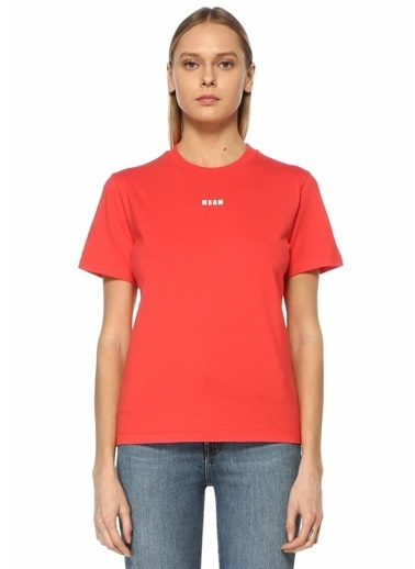 MSGM MSGM  Logo Detaylı T-shirt 101602564 Kırmızı